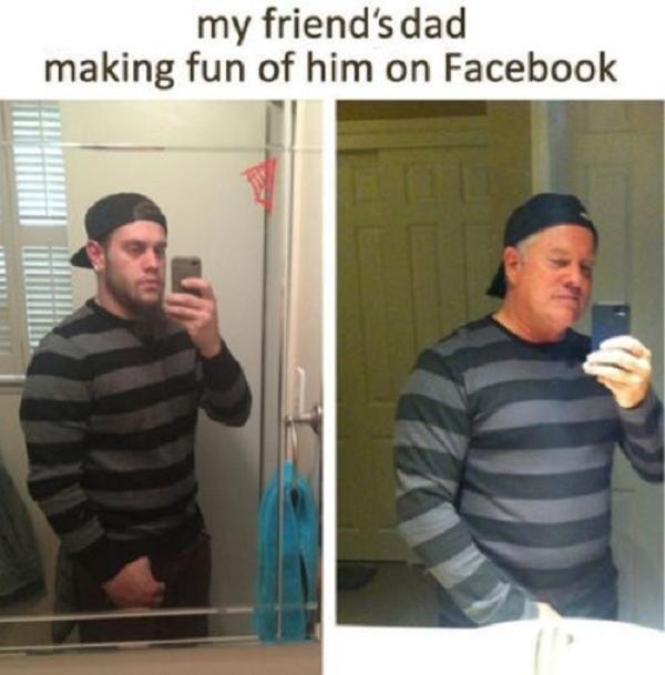 Dad On Facebook