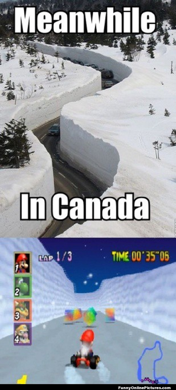 Canada winter canadian winter funny picture