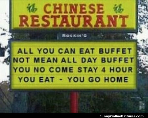 Chinese buffet sign