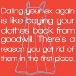 Ex already dating again