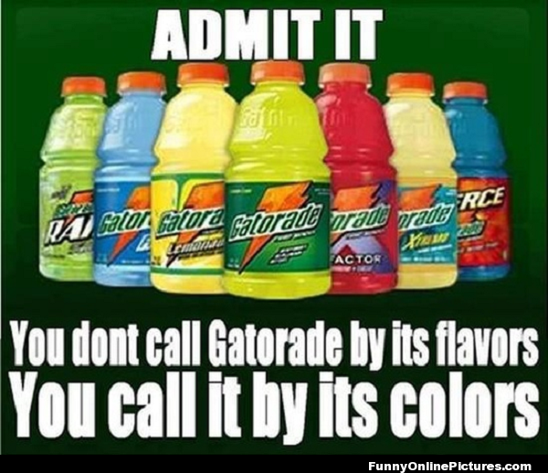 Gatorade Colors