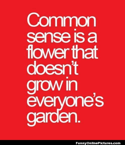 Common Sense Quote - Funny Online Pictures