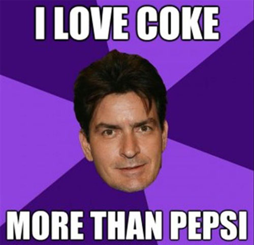 Everyone know that Charlie Sheen loves Coke. But guess what? Charlie